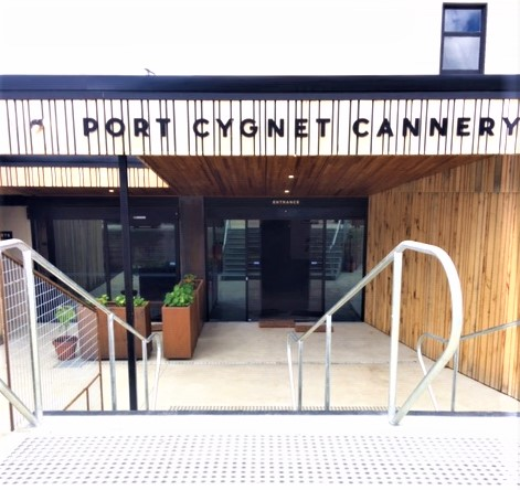 Entrance to Port Cygnet Cannery