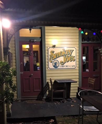 Smokey Joe's entrance Creole food