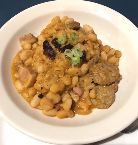 Creole food White-beans-with-smoked-andouille-sausage