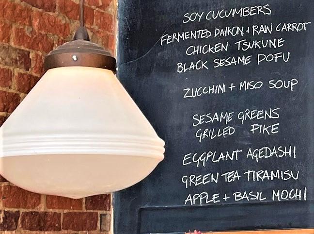 Temporary food menu